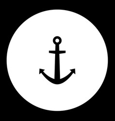 anchor for boat simple black isolated icon eps10 vector image