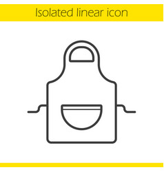 Apron linear icon vector