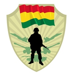 Army of Bolivia vector image