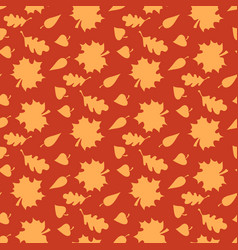 autumn background with leaves endless seamless vector image