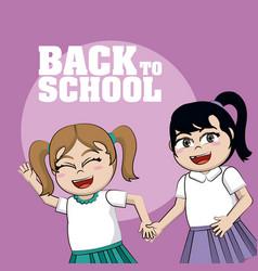 Back to school cartoon vector