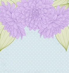 Background with frame of dahlia flowers vector
