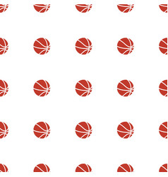 Basketball icon pattern seamless white background vector