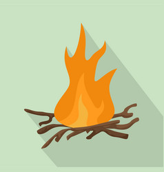 bbq fire icon flat style vector image