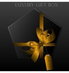 Black gift box vector