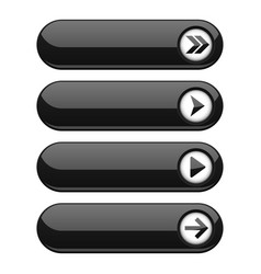 black interface buttons with arrows vector image