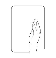 Border smartphone in hand 1 vector