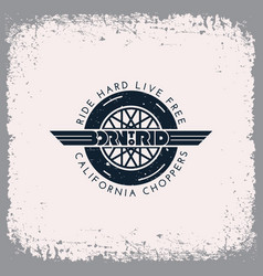 born to ride label vector image
