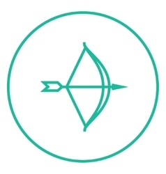 Bow and arrow line icon vector