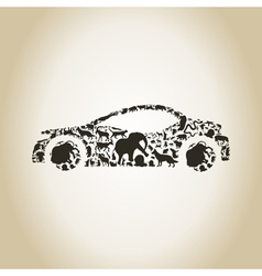 Car an animal vector image vector image