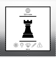 Chess rook strategy icon vector