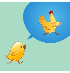 Chicken thinking that it would be a chicken vector image