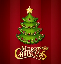 Christmas trees background vector