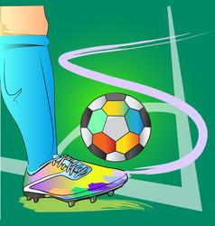 Corner free kick football action art brush vector