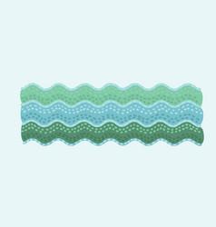 cute marine waves sea vector image