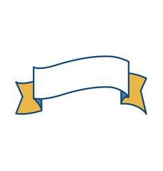 Decorative ribbon icon vector