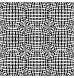 Design seamless warped square trellised pattern vector