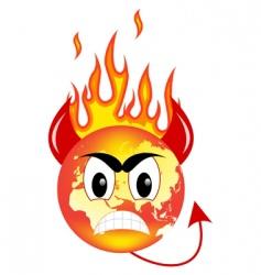 evil world vector image