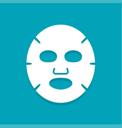 Facial mask flat icon vector