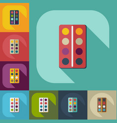 Flat modern design with shadow icon vector