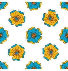 Floral seamless pattern with doodle elements vector