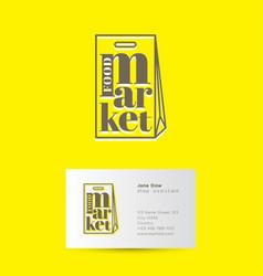 food market logo vector image