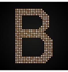 Gold sequins sings sequins alphabet eps 10 vector