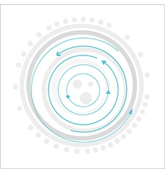 Gray circles with blue arrows vector