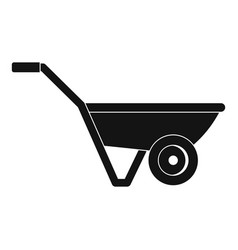 hand truck one wheel icon simple style vector image