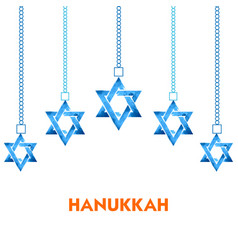 happy hanukkah jewish holiday background with vector image