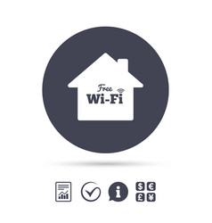 Home wifi sign wifi symbol wireless network vector