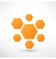 Honey icon isolated on white vector image