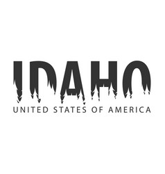 Idaho usa united states of america text or vector