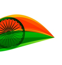 indian flag made with tricolor in a leaf style vector image