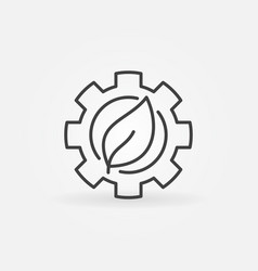 Leaf in gear icon vector