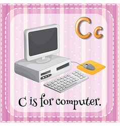 Letter C is for computer vector