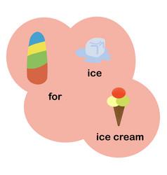 letter i for children alphabet vector image