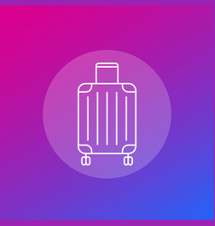 Luggage bag icon in linear style vector