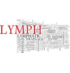 lymph word cloud concept vector image