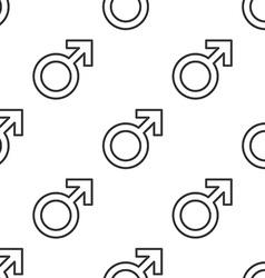 male symbol seamless pattern vector image