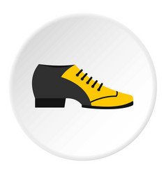male tango shoe icon circle vector image
