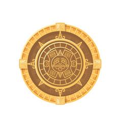 Maya calendar icon vector