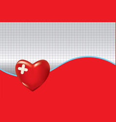 Medical background with heart vector