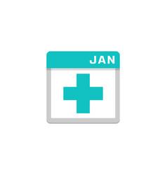 medical calendar logo icon design vector image
