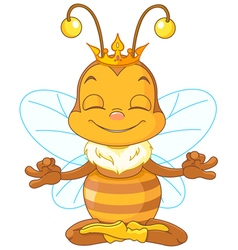 Meditating Queen Bee vector image