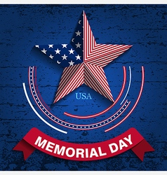memorial day star vector image