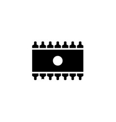 memory chip flat icon vector image