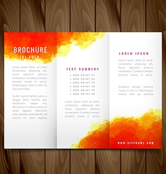 modern watercolor trifold brochure design vector image