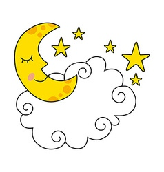 Moon design vector