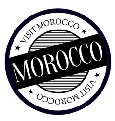 Morocco geographic stamp vector